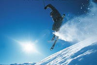 Winter is sunny but cold due to the high altitude of Bansko